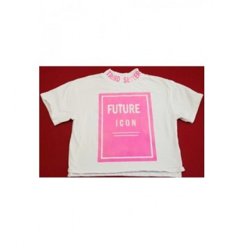 Feliratos pink-fehér haspóló (140)