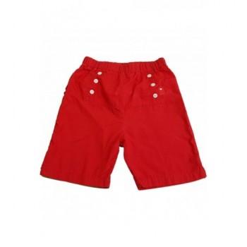 Fodros piros rövidnadrág (68)
