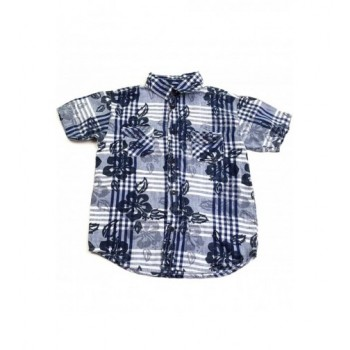 Kék kockás-virágos ing (116)