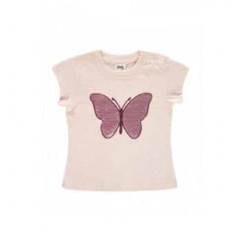 Rózsaszín pillangós felső (80)