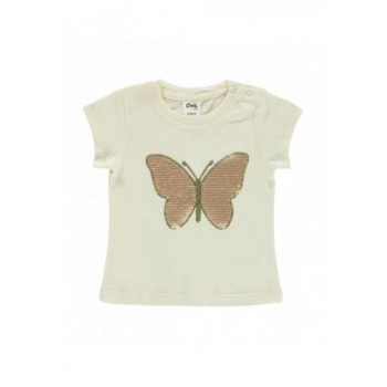 Arany pillangós bézs felső (80)