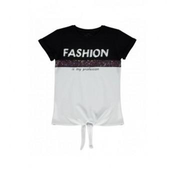 Fekete-fehér Fashion felső (152-158)
