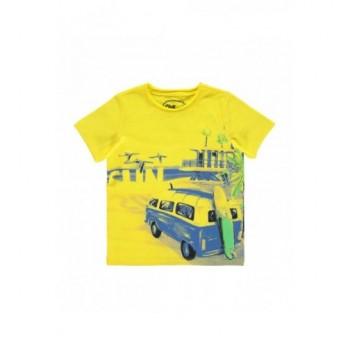 Szörfös-buszos sárga felső (98-104)