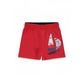 Vitorláshajós piros rövidnadrág (98-104)