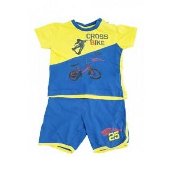 Biciklis kék-sárga pizsama (92)