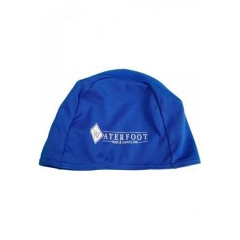 Feliratos kék úszósapka (104-110)