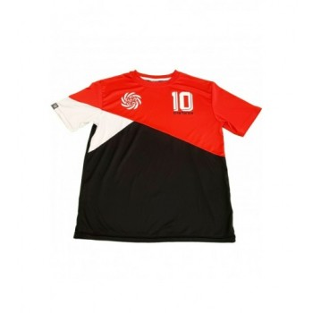 Sportos piros-fekete felső (158-170)