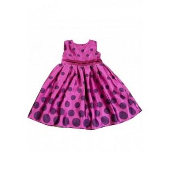 Pöttyös lila szatén ruha (86)