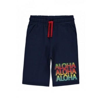 Sötétkék Aloha bermuda (122-128)
