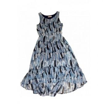 Tollmintás kék ruha (146)