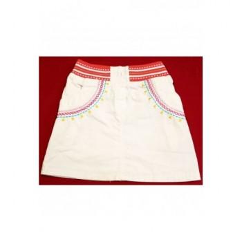 Hímzett fehér szoknya (110)