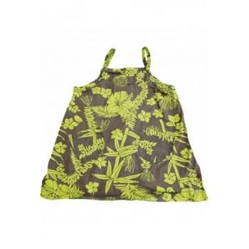 VóZöld virágos szürke tunika (86)