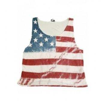 Amerikai zászlós ekrü trikó (140-146)