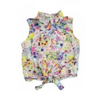 Virágmintás halványkék ing (152)
