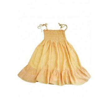 Mintás narancs ruha (140-158)