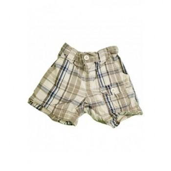 Drapp kockás rövidnadrág (80)