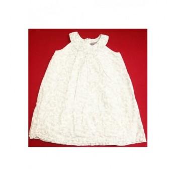 Menta virágos fehér ruha (104)