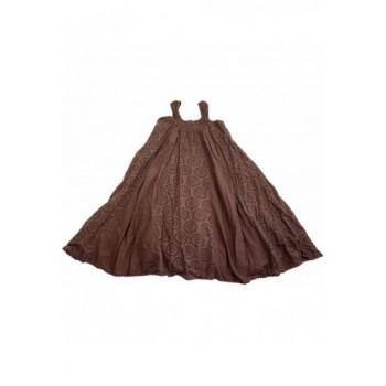 Madeira csipkés barna ruha (140-146)