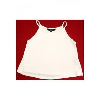 Horgolt virágos fehér trikó (152-158)
