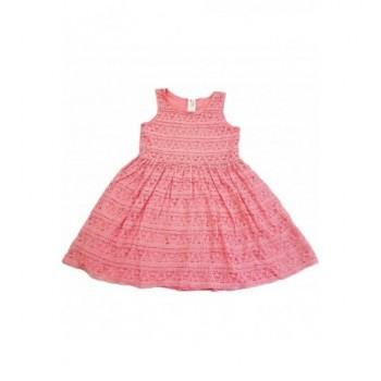 Rózsaszín csipkeruha (140)