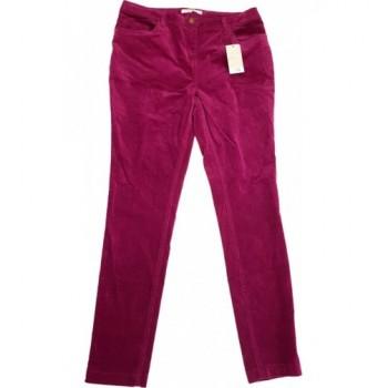 Bordó mikrokord nadrág (40)