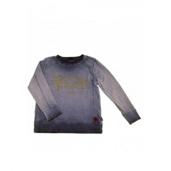 Feliratos farmerkék pulóver (122)