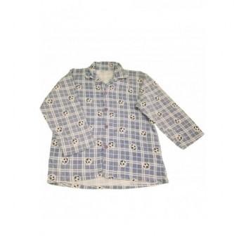 Focilabdás kék pizsamafelső (140)