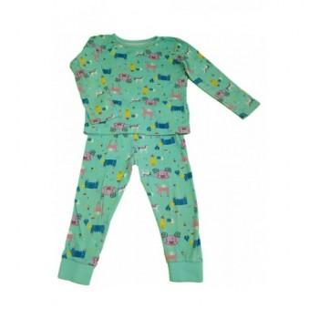 Unikornis-váras világoskék pizsama (98)