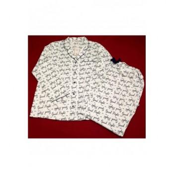 Feliratos fehér pizsama (44)