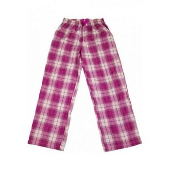 Lila kockás pizsamanadrág (140)