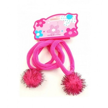 Pom-pom pink hajgumi szett