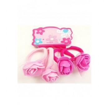 Rózsás pink hajgumi szett