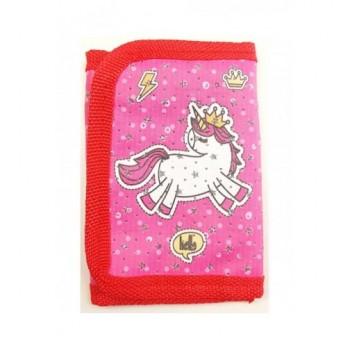 Pink-piros unikornis pénztárca