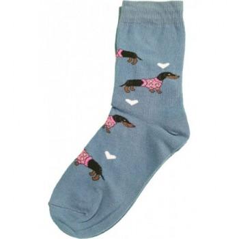 Tacsis, kék prémium zokni (23-25)