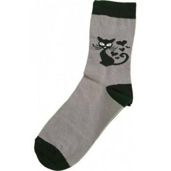 Cicás, szürke prémium zokni (29-31)