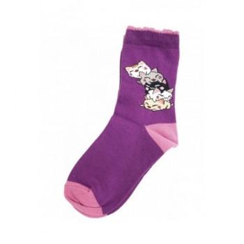 Lila cicás prémium zokni (23-25)