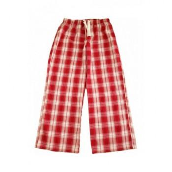 Piros kockás pizsamanadrág (140-146)