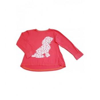 Kutyusos pink felső (128)