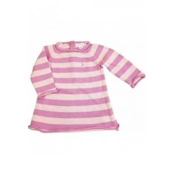 Rózsaszín csíkos kötött ruha (62)