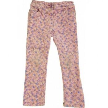 Virágmintás rózsaszín nadrág (98-104)