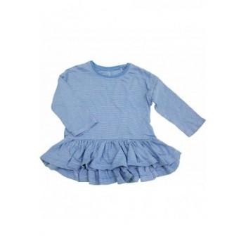 Csíkos kék tunika (80)