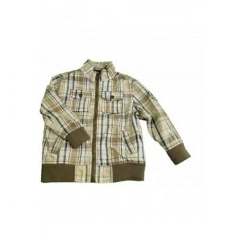 Kockás drapp kabát (116)