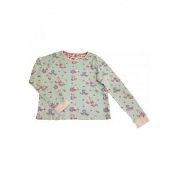 Nyuszis világoskék pizsamafelső (140)