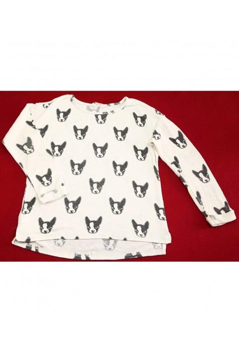 Kutyusos bézs pulóver (146-152)
