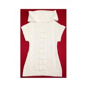 Csillogós bézs pulóver (140-146)