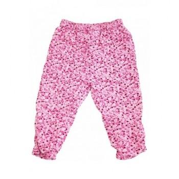 Virágmintás rózsaszín nadrág (80-86)