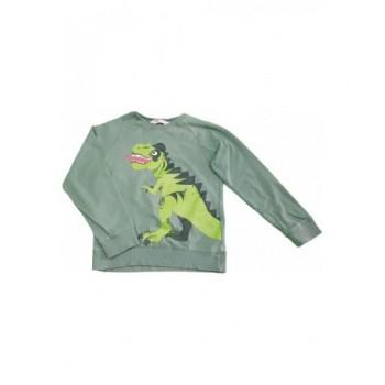 Dínós zöld pulóver (122-128)