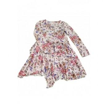 Virágmintás bézs ruha (134)