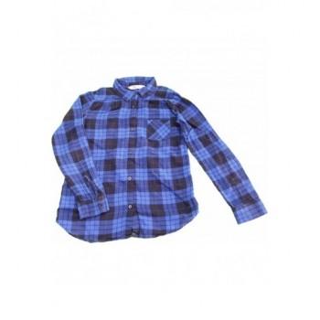 Kék-fekete kockás flanel ing (140)