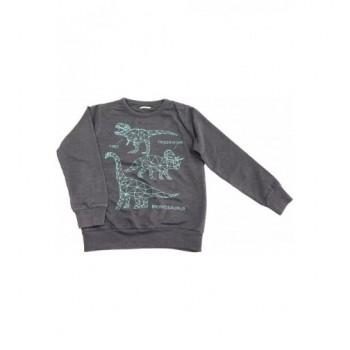 Dínós sötétszürke pulóver (116)